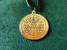 Enochian Angel Magic amulet, Alpha and Omega, AGLA, Tetragrammaton