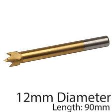 PRO 12mm titanio rivestito Forstner Bit -- base piatta Foro Sega / Core TRAPANO TAGLIERINA