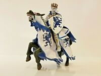 2006 Papo Horse and Dragon Crest Knight Blue and White - Crown VGUC