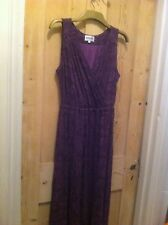 BRORA DRESS - WATERLILLY PATTERN - PURPLE / BLACK  sz: 12