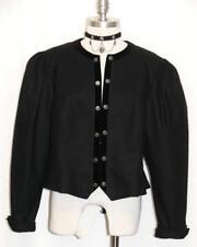BLACK ~ WOOL & VELVET Women Austria ELEGANT Evening Dress Suit JACKET / 46 12 M