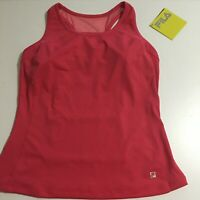 Fila Womens Medium Pink Sport Tank Top Running Fitness Stretch NWT $60