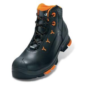 Uvex 2 Leather Boot S3 Src, Black/Orange (6503.2)