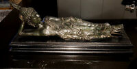 Beautiful Antique Reclining  Bronze Buddha
