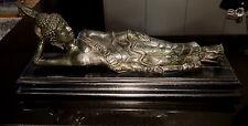 Beautiful Antique Reclining  Bronze Buddha