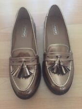 topshop womens gold loafers shoes uk size 6