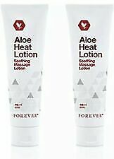 2 X Forever Living Original Aloe Heat Lotion Soothing Massage Lotion 118/ml New