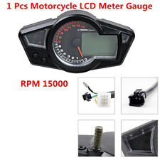 15000 RPM Multifunction Motorcycle LCD Digital Gauge Thermo-/Speedo-/Tachometer