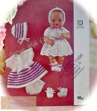 Dolls Clothes Knitting Pattern For 12in. Dolls With 9in. Chest. Dress, Pants etc