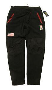 Polo Ralph Lauren Men's Black 1992 P Racing Aspen Fleece Jogger Pants $268