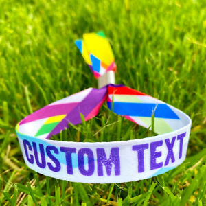 Personalised Party Event Wristbands  - Customised Festival Fabric Wristbands