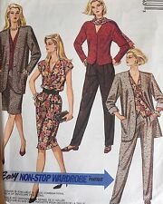 NEW & VINTAGE 1990 McCALLS LOOSE SUIT SEPARATES SEWING PATTERN 4976 SIZE 14-16