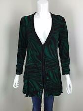 MOTTO Green Black Crushed Asymmetric Single Button Front Layering Top Size 10