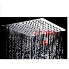 "Huge 16"" Chrome Stainless Steel Shower Head Wall/Ceiling Mount Top Sprayer Head"