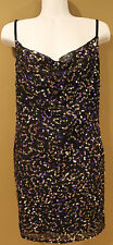 Victoria's Secret GUDI Gorgeous Sequin Cami Dress - Black Size 2-  NWOT