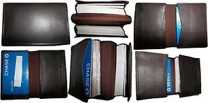 Lot of 6 New leather business card case, 100 plus card case, Brown card case NWT
