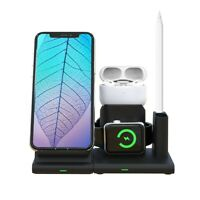 Qi Wireless Fast Charger Stand Holder for Apple Watch 4 for iPhone XS /XS MAX/X