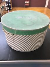 Vintage Jonas Hat Box Only Richmond Virginia Broad Street Retro Green L1