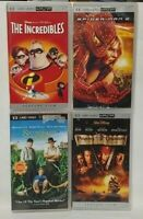 4 UMD Movies Sony PSP Playstation Portable Spider-Man 2 Pirates Incredibles