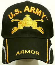 U.S. ARMY TM YELLOW ARMOR BRANCH SCHOOL COMBAT CAVALRY FORCES M-26 TANK CAP HAT