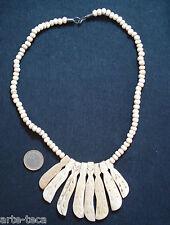 collana perle in osso intarsiato pendoli bigiotteria nepal etnico tribale affare