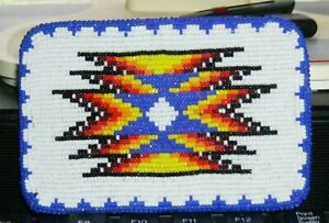 Native American Shoshone Bannock Beaded Belt Buckle