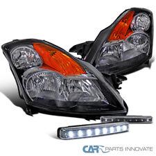 For 2007-2009 Nissan Altima JDM Black Clear Headlights+8-LED Fog Bumper Lights