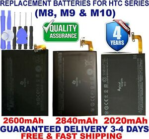 New Rechargeable Cell Phone Replacement Battery for HTC One M7 M8 M9 M10 U11 X9