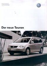 VW Touran Prospekt Technische Daten 2/03 2003 Autoprospekt Broschüre brochure