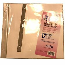 12x12 MBI REFILL Page Scrapbooking Album Refills Pages Top Loading Protectors