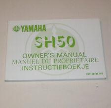 Owner's Manual / Instructieboekje Yamaha SH 50 - Edition 1989 !