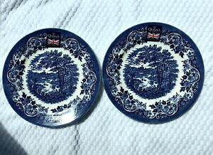 Queens by Churchill English Scene Salad Plates Set of 2 Brand New
