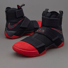 NIKE LEBRON SOLDIER 10 SFG sz 12  844378 060  RED & BLACK  BASKETBALL SHOES