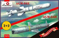 Amodel 72375 AGM-84E and AGM-84H Rockets on trolleys plastic model kit 1/72