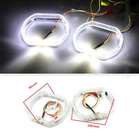 2pcs bright 100mm/90mm 12V 2.5 inch waterproof Square LED Day running angel eyes