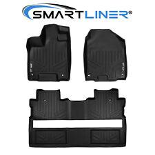 SMARTLINER Custom Fit Floor Mat Set For 2017-2021 Honda Ridgeline Crew Cab