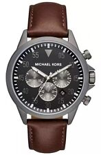 Michael Kors Men's MK8536 Gage Chronograph Grey Dial Brown Leather Watch