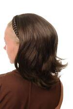 Halbperücke Haarteil geflochtener Haarreif schulterlang gewellt braun DW1026-8