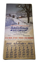 Vintage Nature's Remedy Calendar 1950 Unused New Old Stock