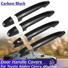 4 Door Handle Cover Carbon Fiber Black For Toyota Avalon Camry 4Runner Tacoma