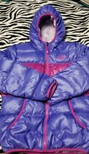 NORTH FACE GIRLS REVERSIBLE DOWN MOONDOGGY JACKET, CSB4, PURPLE XL, EXCELLENT!!!