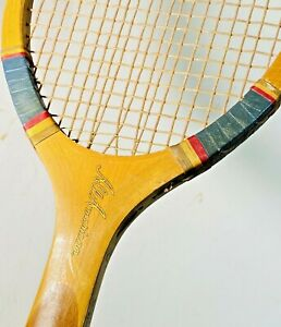 "Wright & Ditson ""All American"" Antique Tennis Racquet Triple Double Strung Mains"