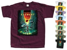 The Fifth Element 1997 T SHIRT Movie Poster V4 burgundy Tee all sizes