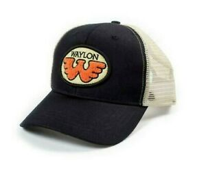 Waylon Jennings Patch Truckers Hat Adult One Size Two Tone color Cap