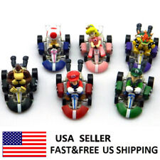 Super Mario Bros Kart Pull Back Car 6 PCS Action Figure Doll Kids Toys Gifts USA