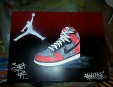 18 x 24 canvas Nike Air Jordan elephant print air force 1 shoe painting graffiti