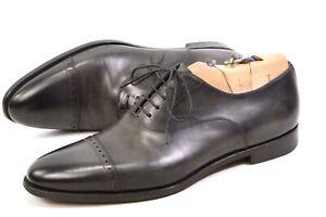 Santoni Italy shoes mens UK9.5F / US10.5 / EU43.5 lace up oxford cap toe Patina
