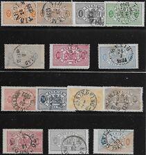 Sweden Scott #O12-25, Singles 1881-95 Complete Set FVF Used