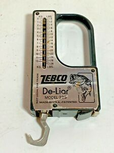 Vintage Zebco Model 228 De-Liar Fishing Scale / Measuring Tape