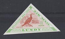 Lundy Islas. 1955 milenaria aves Imperforado Color Juicio. Menta desmontado.